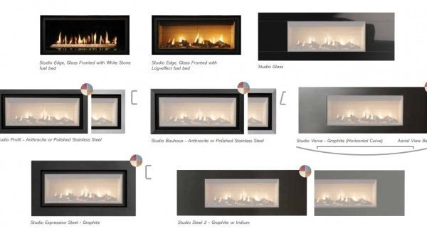 Gazco Studio 2 Duplex Sided Gas Fire by West Country Fires, Gas Fires Southampton, Hampshire, UK