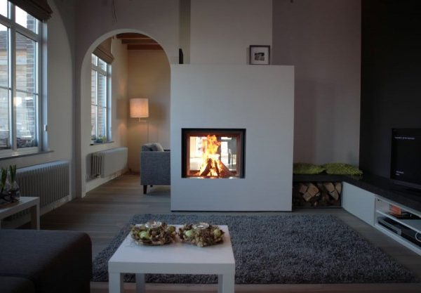 Stuv 21 Double Sided woodburning stove by West Country Fires Totton, Hampshire, UK