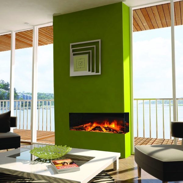 The e-series is our modern day range of built in electric fires, powered by the very latest LED lighting technology. - Hedge End Fireplace Showroom