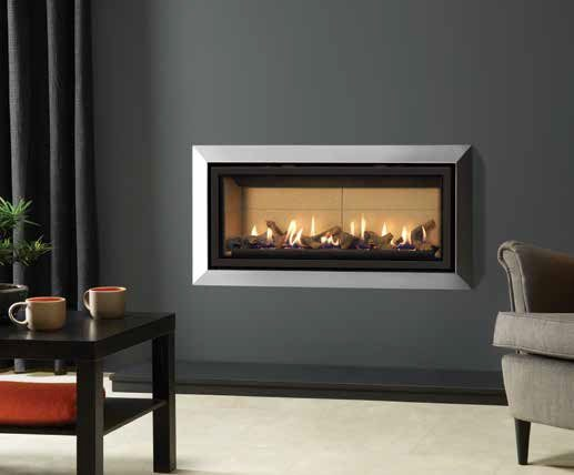 Gazco Studio 2 Slimline gas fire with Bauhaus Frame in Polished