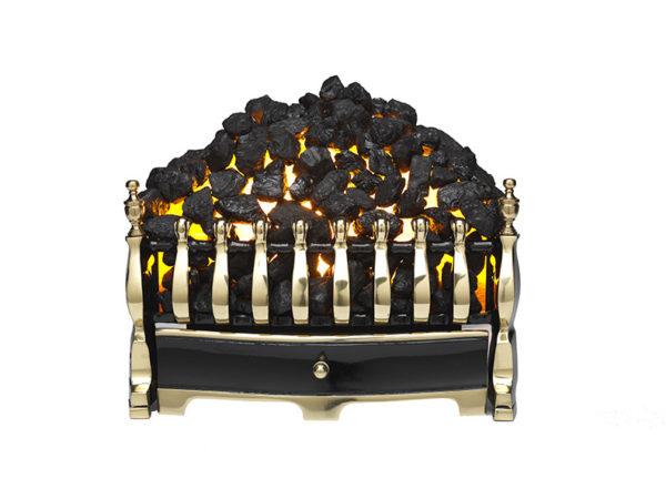 Burley Halstead 292 electric fire - brass