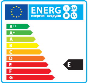 Energy efficiency rating E