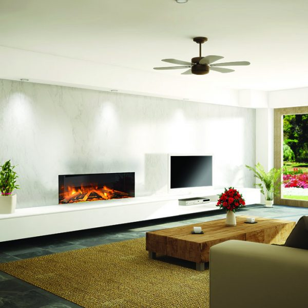 The e-series is our modern day range of built in electric fires, powered by the very latest LED lighting technology. - Fireplace Showroom Hedge End