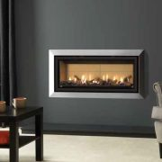 Gazco Studio 2 Slimline gas fire with Bauhaus Frame in Polished