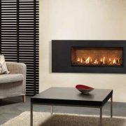 Gazco Studio 2 Slimline gas fire with Steel 2 Frame in Graphite