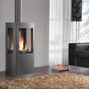 Dru Trio freestanding balanced flue gas fire