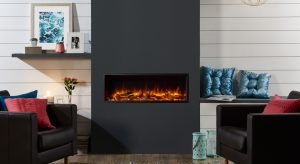 Gazco Skope 105R Inset electric fire with red log fuel effect