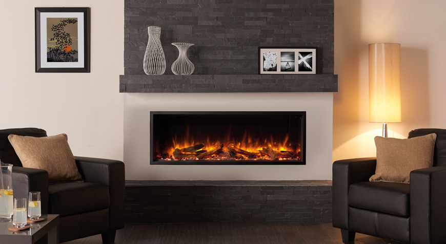 Wall Hung Fire Surrounds: Gazco Skope 135R Inset Electric Fire