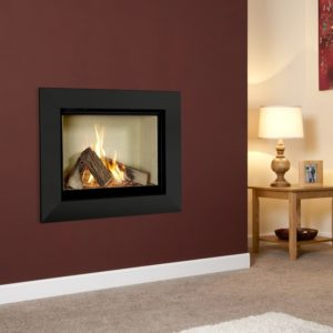 Michael Miller Celena gas fire with vermiculite interior and black fascia