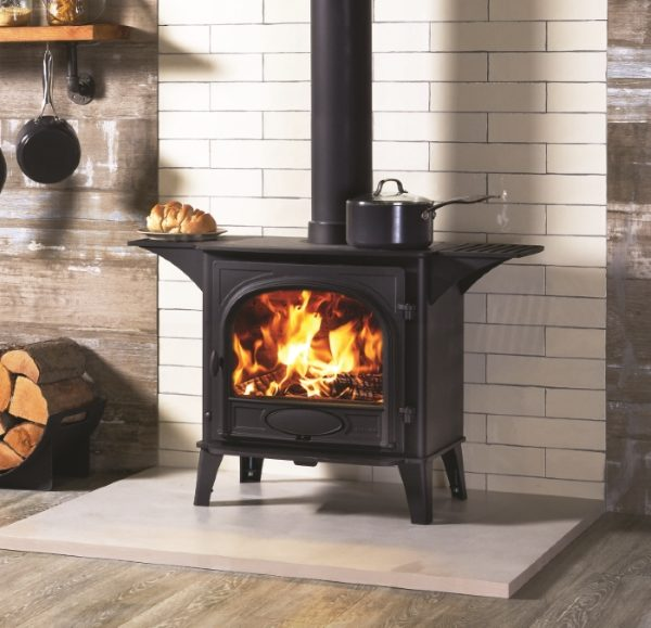 Stovax Stockton 8 single door Cooktop stove with warming shelves