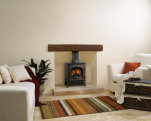 Gazco Stockton Small Gas stove with beam