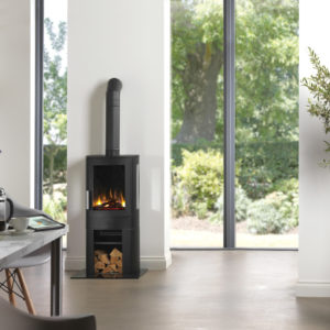 neo3ce eletric stove with log store