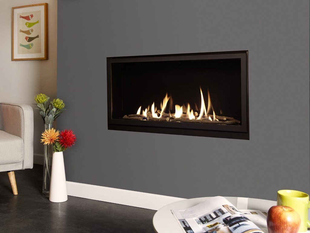 Verine Eden Elite balanced flue trimless gas fire