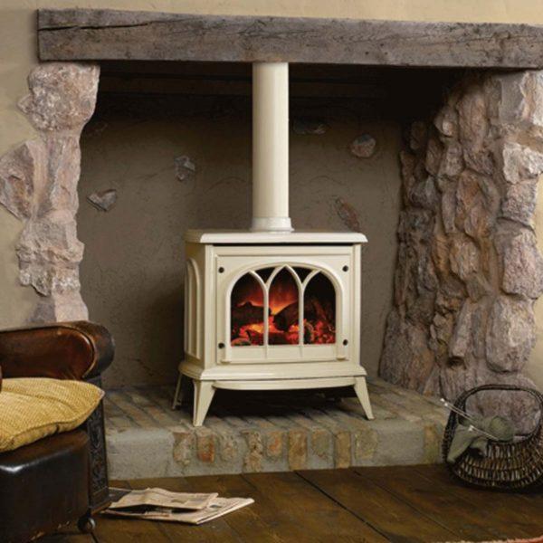 Gazco Ashdon Electric Fire Ivory Enamel