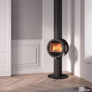 Nordpeis ME woodburning stove with pedestal