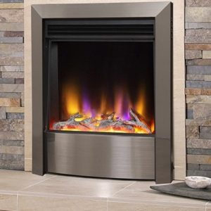 Celsi Electriflame_vr_contemporary_inset electric fire in satin_silver