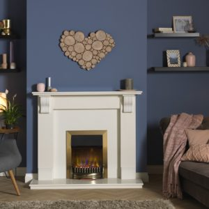 Dimplex Braemar Brass optiflame 3d inset electric fire