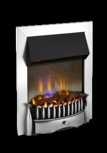 Dimplex Braemar Chrome optiflame 3d inset electric fire