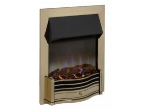 Dimplex Dumfries Antique Brass Optiflame 3D inset electic fire