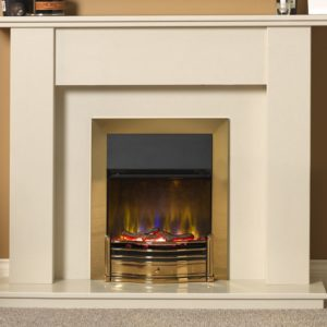 Dimplex Dumfries Brass Optiflame 3D inset electric fire