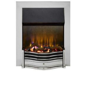 Dimplex Dumfries Chrome Optiflame 3D inset electric fire 2