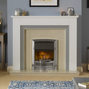 Dimplex Glencoe inset electric fire in chrome