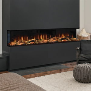 Evonic Karlstad 3 sided installation electric fire